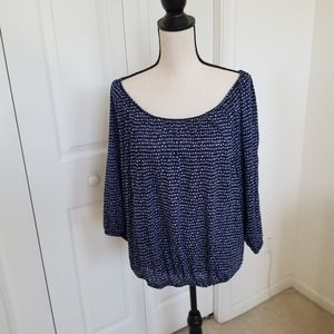 Faded Glory Off Shoulder Relaxed Blouse